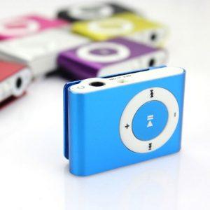 Цветен мини mp3 player със слушалки