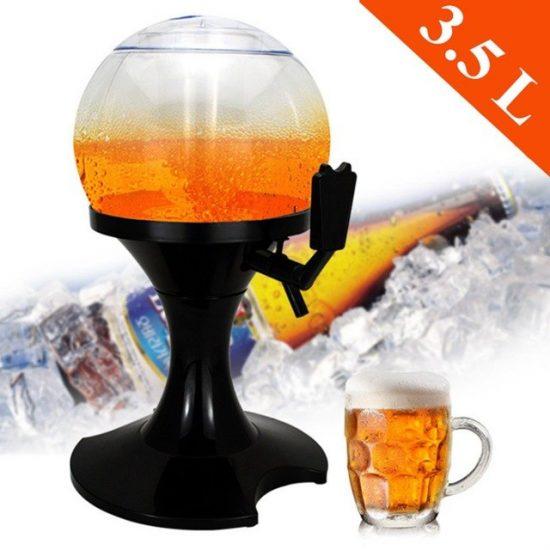 Диспенсър за бира с охладител - камера за лед във формата на балон