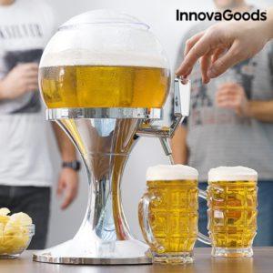 Диспенсър за бира с охладител - камера за лед във формата на балон InnovaGoods