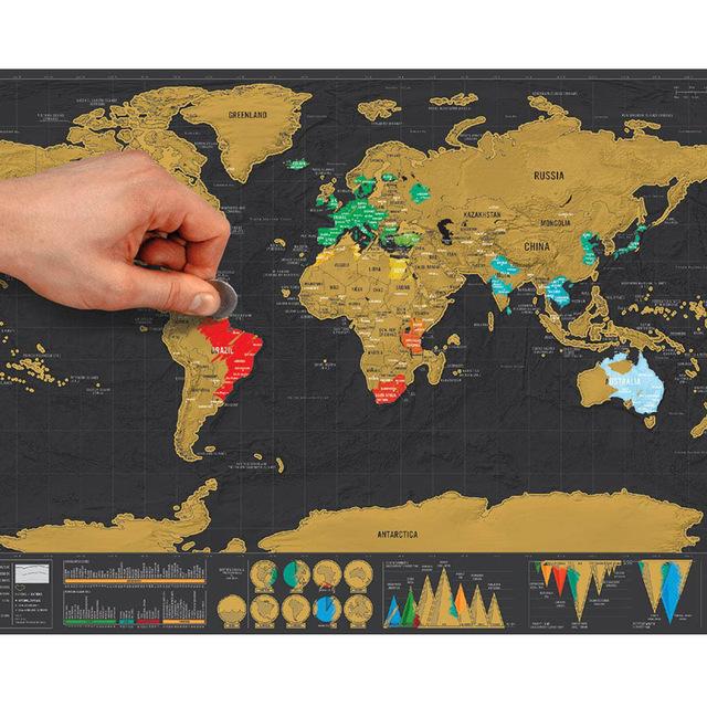 Skrech Karta Na Sveta Deluks Svetovna Karta Za Iztrivane