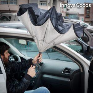 Чадър с обратно затваряне и отваряне - обърнат чадър InnovaGoods Inverse 1