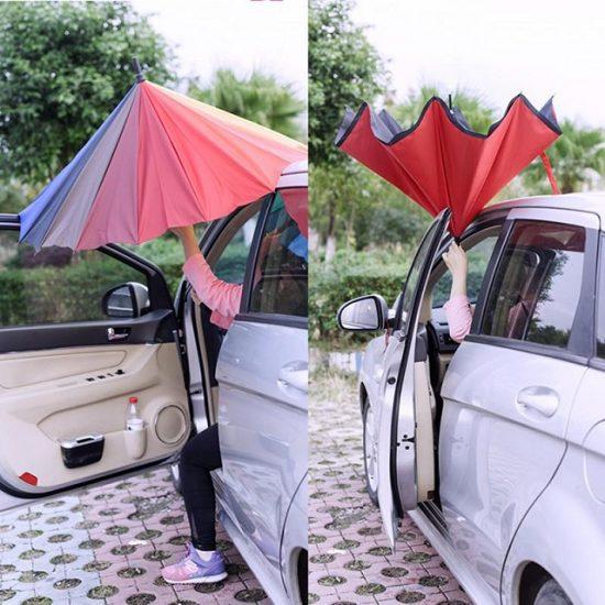 Чадър с обратно затваряне и отваряне - обърнат чадър Coolbrella