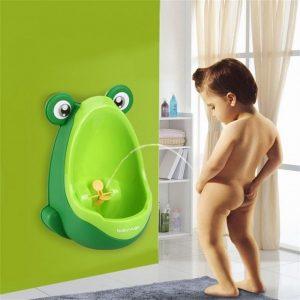 Детски писоар жаба за стена