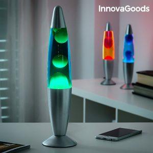 Лава лампа InnovaGoods 25W - зелена, синя и червена