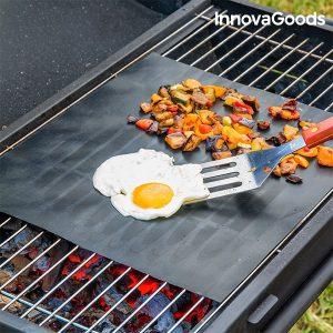 Тефлонова подложка за печене на скара и фурна InnovaGoods - 2 броя