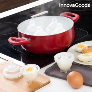 Форми за варене на яйца без черупки InnovaGoods - 6 броя