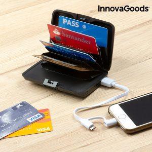 Преносимо зарядно за телефон портмоне InnovaGoods - за документи и карти