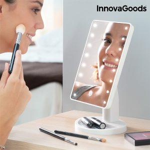 LED огледало за грим InnovaGoods - гримиране с лед осветление