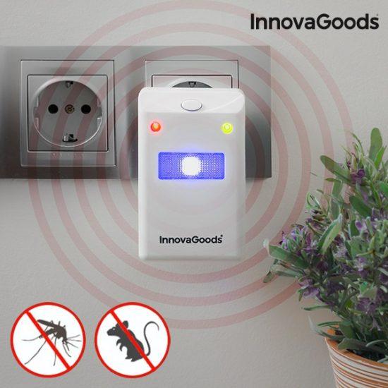Уред против насекоми и гризачи InnovaGoods - репелент с LED светлини