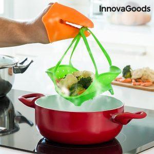 Силиконова кошница за готвене на пара с ръкавица InnovaGoods