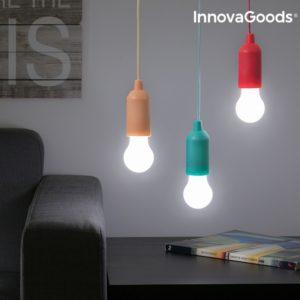 Висяща LED лампа крушка с въженце InnovaGoods