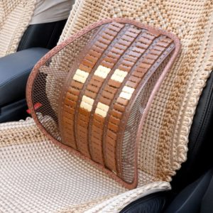 Дървена анатомична облегалка от бамбук