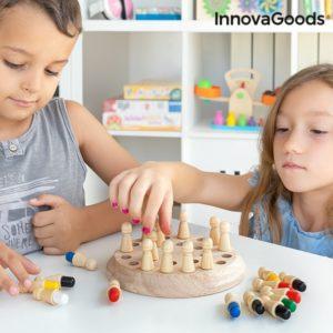 Дървена игра за трениране на паметта и мозъка InnovaGoods