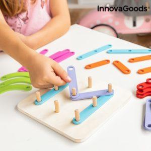 Дървена игра пъзел за учене на букви и цифри InnovaGoods Koogame