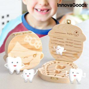 Дървена кутия за зъбчета InnovaGoods Tooth Box