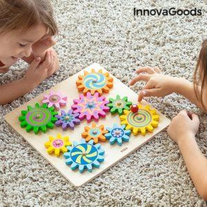 Дървена образователна играчка зъбни колела InnovaGoods Engenius