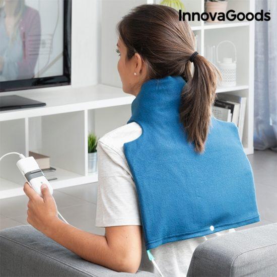 Електрическа затопляща подложка за врат и рамене InnovaGoods 60W - синя