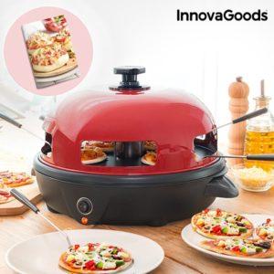 Електрическа печка за мини пици InnovaGoods Pizzini Forno Presto 700W с книга за рецепти