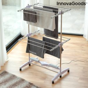 Електрически сушилник за дрехи с духалка и 12 решетки InnovaGoods