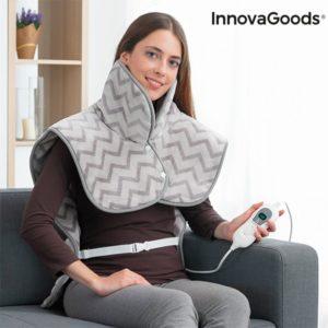 Затопляща електрическа грейка за врат, рамене и гръб InnovaGoods 100W - сива