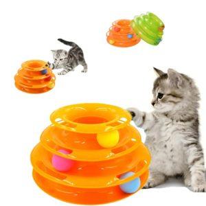 Играчка за котки пирамида с топки