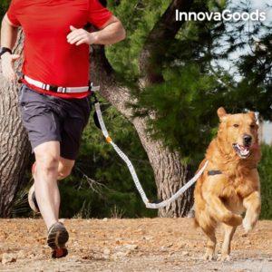 Повод за куче с колан за водене без ръце InnovaGoods Handsfree Dog Leash
