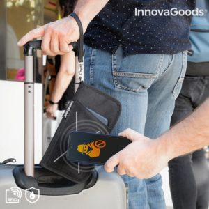 Портфейл с вградена защита от кражби на електронни данни InnovaGoods Wallock