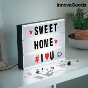 Светеща табелка за съобщения InnovaGoods Cinema Light Box