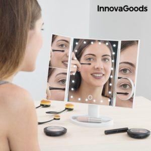Светещо LED огледало за грим с увеличение InnovaGoods 4 в 1