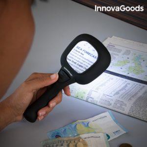 Увеличителна лупа с LED светлина и ултравиолетов детектор за банкноти InnovaGoods