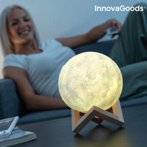 3D LED лампа луна InnovaGoods