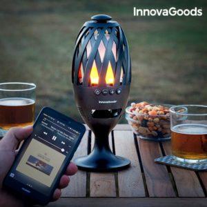 LED лампа с пламък InnovaGoods с блутут колонка