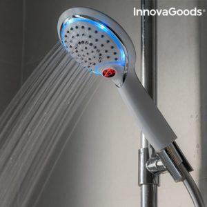 LED светеща душ слушалка със сензор за температура InnovaGoods