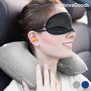 Комплект за пътуване InnovaGoods - маска за сън и възглавничка