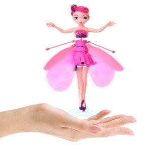 Летяща кукла фея - розова