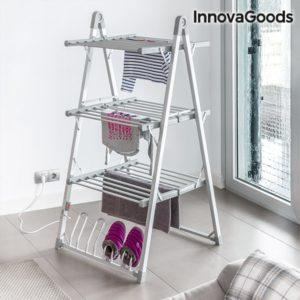 Вертикален електрически сушилник за дрехи и обувки с 30 решетки InnovaGoods 300W - сив