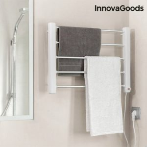 Електрически сушилник за дрехи и кърпи за стена с 5 решетки InnovaGoods 65W - бяло и сиво