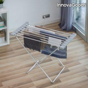 Електрически сушилник за дрехи с 8 решетки InnovaGoods 120W – сив