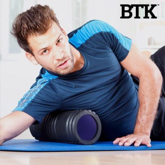 Ролка за разтягане на мускулите BTK Foam Roller