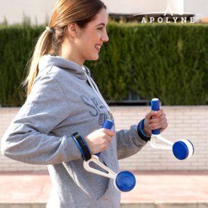 Тежести за бягане и ходене с дръжки Apolyne - 2 броя