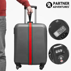 Удобна дръжка за носене на багаж с вградена везна и защитен код Partner Adventures