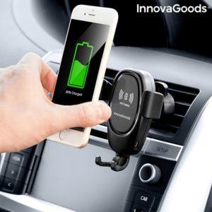 Стойка за телефон и безжично зарядно за кола InnovaGoods 2 в 1