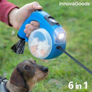 Автоматичен кучешки повод с фенерче InnovaGoods Compet 6 в 1