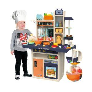 Голяма многофункционална детска кухня с кухненски прибори