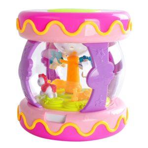 Детска интерактивна музикална кутия - розова