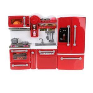 Детска кухня за кукли с кухненски прибори