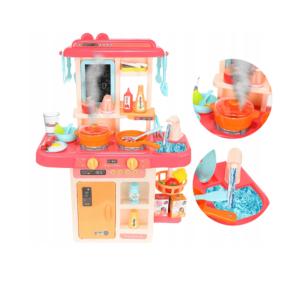 Детска кухня с кухненски прибори - розова