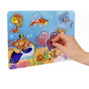Детска образователна игра за сортиране на водни животни