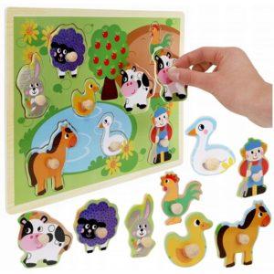 Детска образователна игра за сортиране на животни