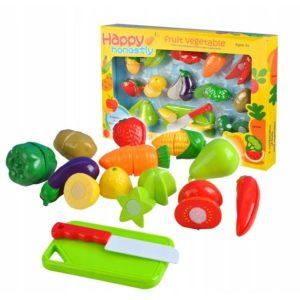 Детски комплект с плодове и нож за рязане